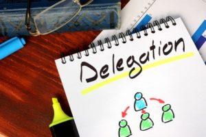 délégation de pouvoirs