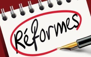Réformes du gouvernement